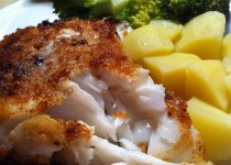 Cod in breadcrumbs